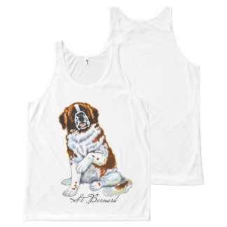 saint bernard All-Over-Print tank top