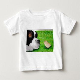 Saint Bernard and Baby Chick Baby T-Shirt