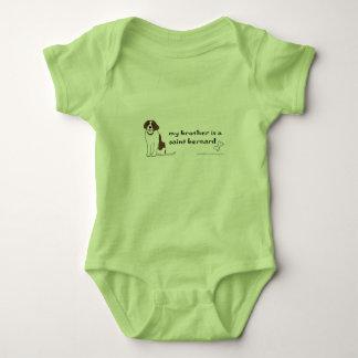 saint bernard baby bodysuit