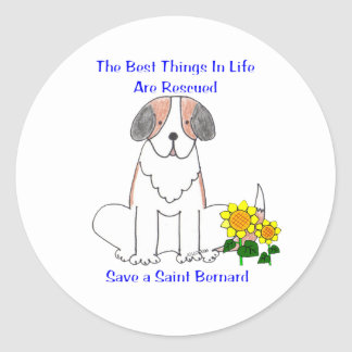 Saint Bernard Best Things In Life Sticker