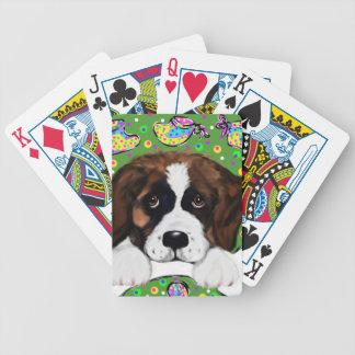 Saint Bernard Bicycle Playing Cards