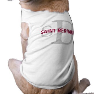 Saint Bernard Breed Monogram Pet Tee