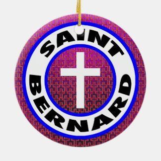 Saint Bernard Ceramic Ornament