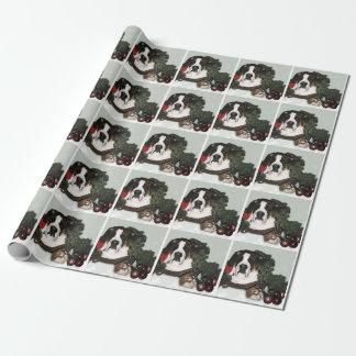 Saint Bernard Christmas Wrapping Paper