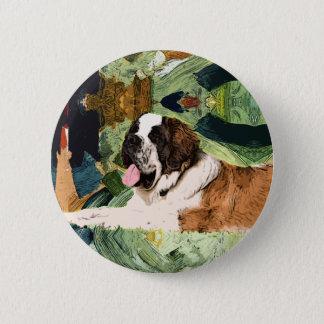 Saint Bernard Dog 2 Inch Round Button
