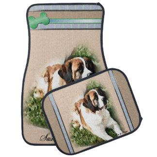 Saint Bernard Dog Art Car Mat