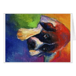 Saint Bernard dog art gift painting Card