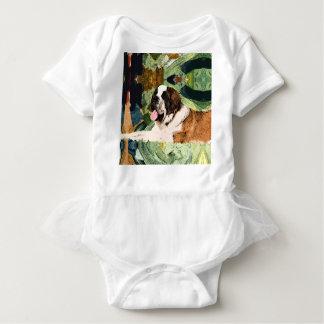 Saint Bernard Dog Baby Bodysuit