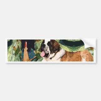 Saint Bernard Dog Bumper Sticker