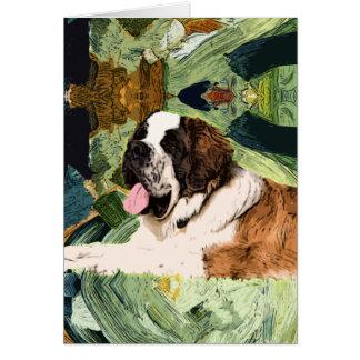 Saint Bernard Dog Card