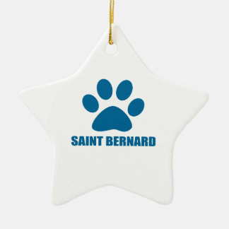 SAINT BERNARD DOG DESIGNS CERAMIC ORNAMENT