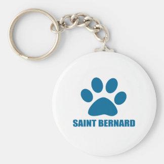 SAINT BERNARD DOG DESIGNS KEYCHAIN