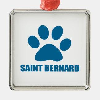 SAINT BERNARD DOG DESIGNS METAL ORNAMENT