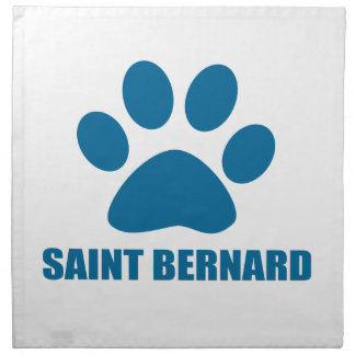 SAINT BERNARD DOG DESIGNS NAPKIN