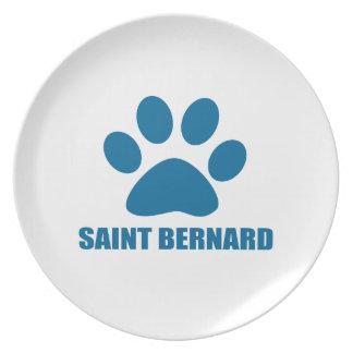 SAINT BERNARD DOG DESIGNS PLATE