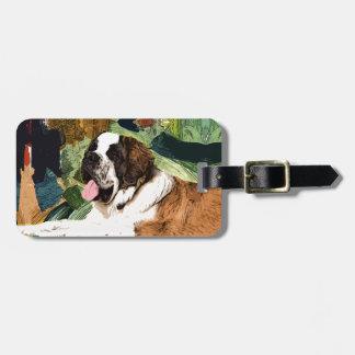 Saint Bernard Dog Luggage Tag