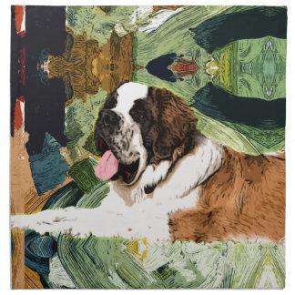 Saint Bernard Dog Napkin