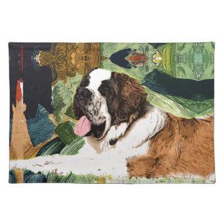 Saint Bernard Dog Placemat