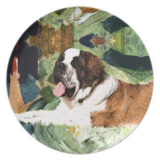 Saint Bernard Dog Plate