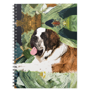 Saint Bernard Dog Spiral Notebook