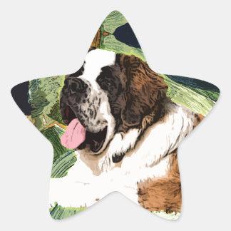 Saint Bernard Dog Star Sticker