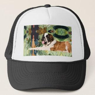 Saint Bernard Dog Trucker Hat