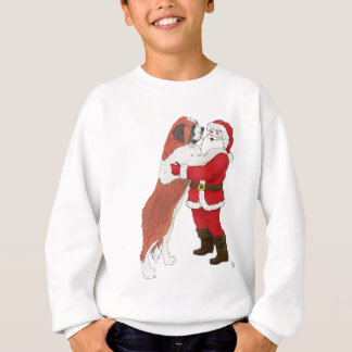 Saint Bernard Jowly Christmas Greeting Sweatshirt