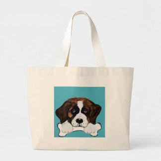 Saint Bernard Large Tote Bag