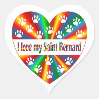 Saint Bernard Love Heart Sticker
