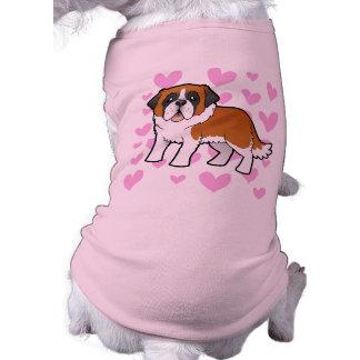 Saint Bernard Love Pet Tshirt
