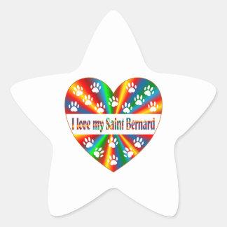 Saint Bernard Love Star Sticker