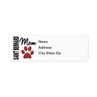 Saint Bernard Mom 2 Return Address Label