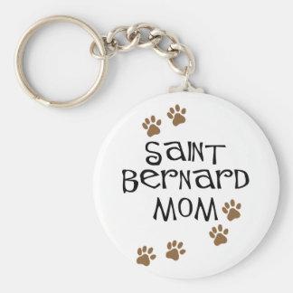 Saint Bernard Mom Keychain