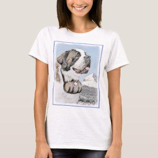 Saint Bernard Painting - Cute Original Dog Art T-Shirt