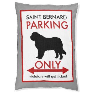 Saint Bernard Parking Only Large Dog Bed