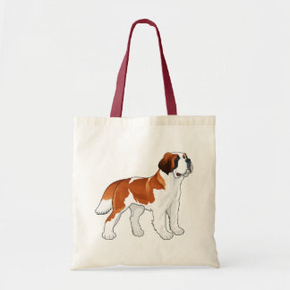 Saint Bernard Puppy Dog Love Canine Tote Bag
