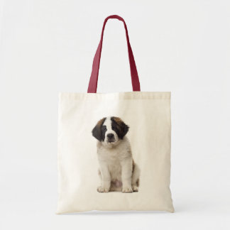 Saint Bernard Puppy Dog - St Bernard Love Tote Bag