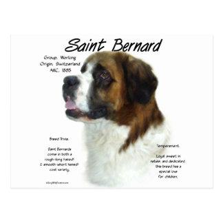 Saint Bernard (rough) History Design Postcard