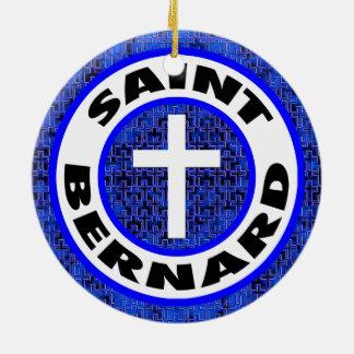Saint Bernard Round Ceramic Ornament