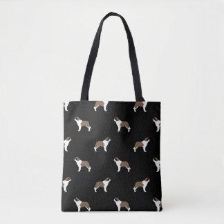 Saint Bernard Silhouettes Pattern Tote Bag