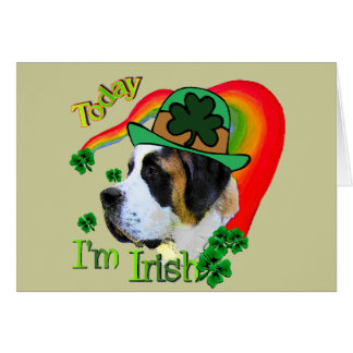 Saint Bernard St Patricks Day Card