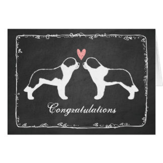 Saint Bernards Wedding Congratulations Card