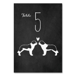Saint Bernards Wedding Table Card