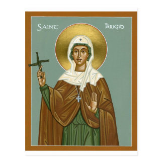 Saint brigid of Ireland - Postcard