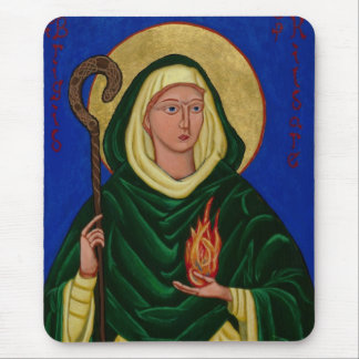 Saint Brigid with Holy Fire Mouse Pad