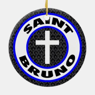 Saint Bruno Ceramic Ornament