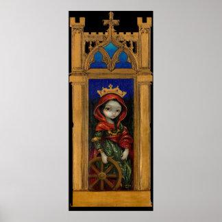 Saint Catherine icon gothic Art Print