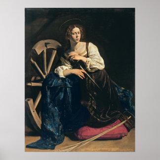 Saint Catherine of Alexandria,  Caravaggio Poster