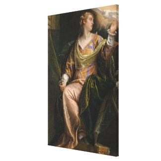 Saint Catherine of Alexandria in Prison Canvas Print