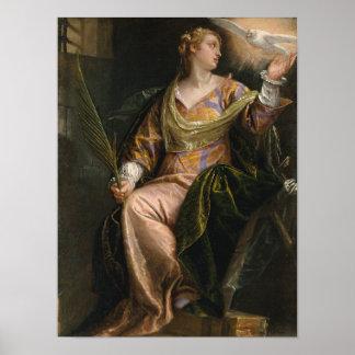 Saint Catherine of Alexandria in Prison Poster